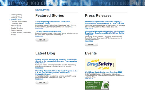 Sciformix News & Events page