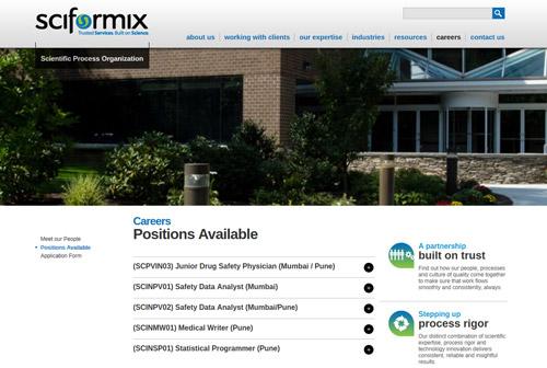 Sciformix Positions page